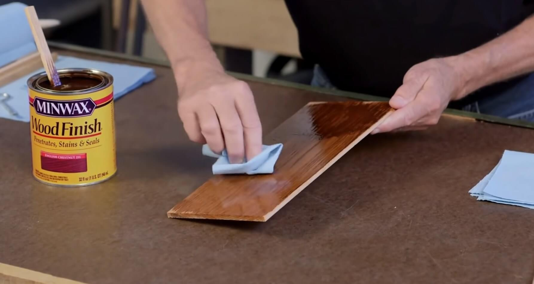 Wood Stain Process - Remove Excess Stain